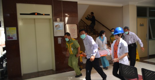 Simulasi Penanggulangan Bencana Kebakaran RS Kramat 128